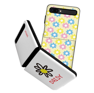 For Galaxy Z Flip Case, Bumper Case Flower Pattern Shockproof Thin Fit Cover