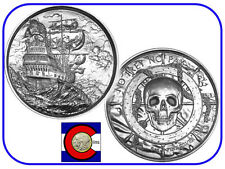 Silver Privateer Original P1 2 oz UHR Coin (w/ airtite, $4+ value)