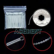 Dental Elastics Clear Long chain Ligatures tie Orthodontic Braces bands