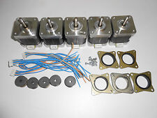 5 x Stepper Motor NEMA 17 GT2 2mm pulley - 76 oz/in CNC MILL ROBOT REPRAP P4V5