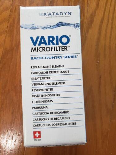 NEW Sealed Katadyn Vario Water Microfilter Replacement Cartridge
