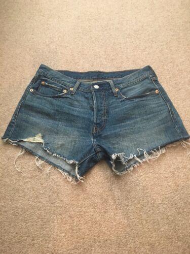 Nwot 501 Cut Levi's Taglia taglia corti adorabili Pantaloncini 30 Off wq1pPxg