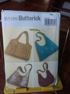 Oop-Butterick-5109-handbags-shoulder-4-styles-lined-NEW