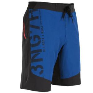 Details zu Reebok Herren Cordura Boardshort Shorts Fitness Workout schwarz blau