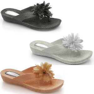 1aa77967aee0a Details about WOMEN FLIP FLOPS TOE POST MULE LADIES SLIP ON BEACH FIT  SANDALS SUMMER SLIPPERS