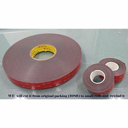 """12mm X 15 Ft VHB Double Sided Foam Adhesive Tape 5952 Grey Very Genuine 1//2/"""""""