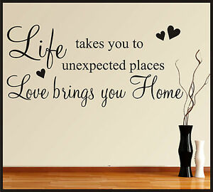 Family Home Wall Art Stickers Quotes Words Phrases Sayings Home
