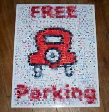 Amazing Monopoly FREE PARKING sign poster Montage