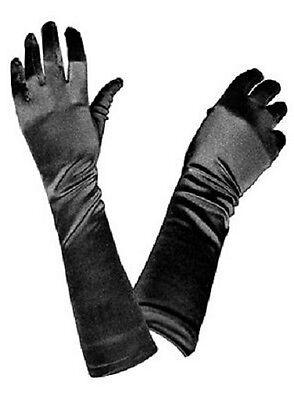 Lange Satin Handschuhe - Satinhandschuhe in schwarz, weiß, rot