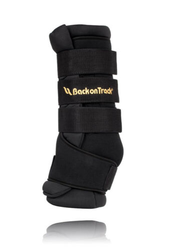 Back on track quick wrap royal stall Gaiters Black Gaiters