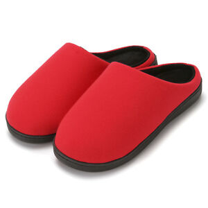 7deb627cd81b8 Details about Women's Two-Tone Cotton Memory Foam House Slippers w/Indoor  Outdoor Sole