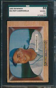 1955-Bowman-Baseball-Roy-Campanella-22-SGC-55-DODGERS-VG-EX-HOF