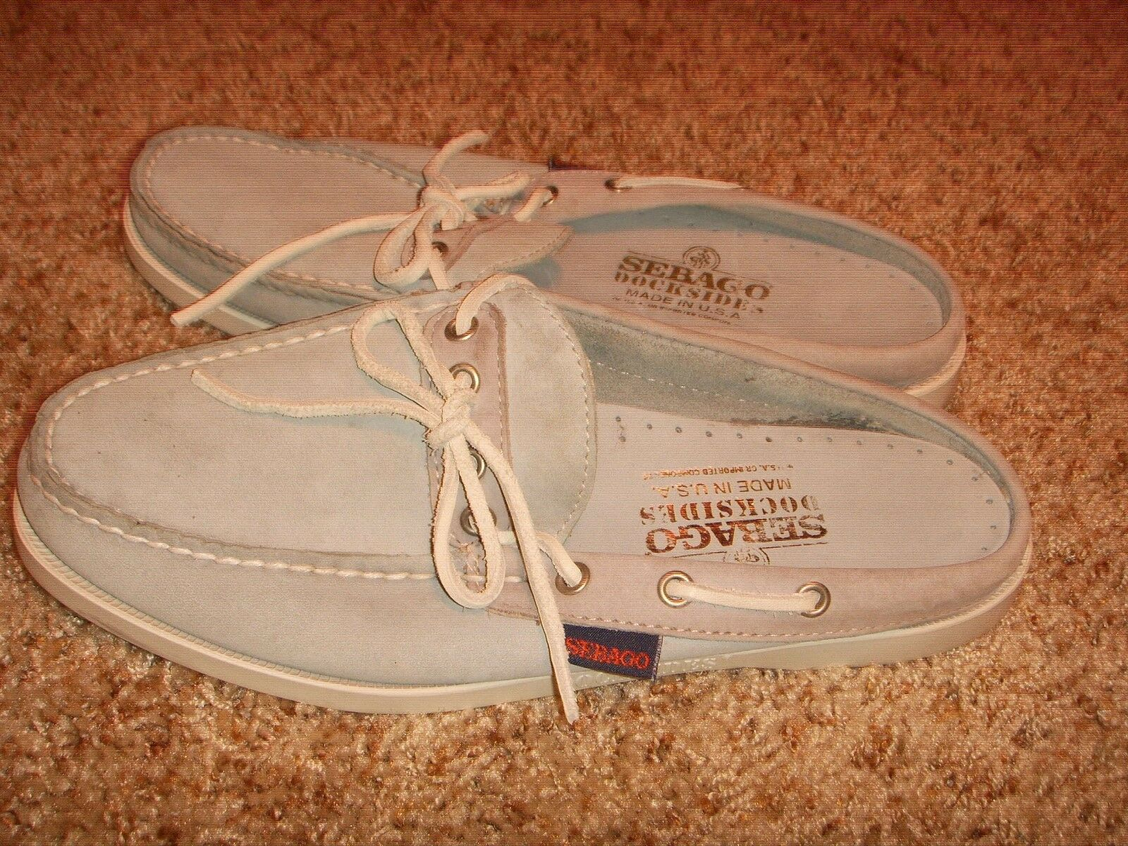Sebago Staysail Dockside bluee Nubuck Leather Mules Womens Size 7W