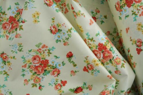 "10m Flowers 100/% cotton fabric sold by the meter 63/""//160cm  super width 1709085"