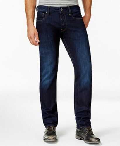 Raw tasche scuro Jeans invecchiato Attacc 8718604221319 in Nwt con zip G Star slim 120 30 34 denim dritti 8q556Hpx