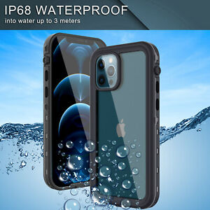 For iPhone 12 Pro Max/Pro/Mini Waterproof Case Cover Built-in Screen Protector