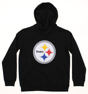 f9e80e89 Details about OuterStuff NFL Youth Pittsburgh Steelers Primary Team Logo  Fleece Hoodie, Black