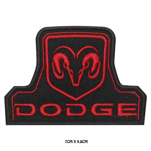 Car Auto Logo Dodge Iron on//Sew on Embroidered Patch//Badge T-shirt Patch