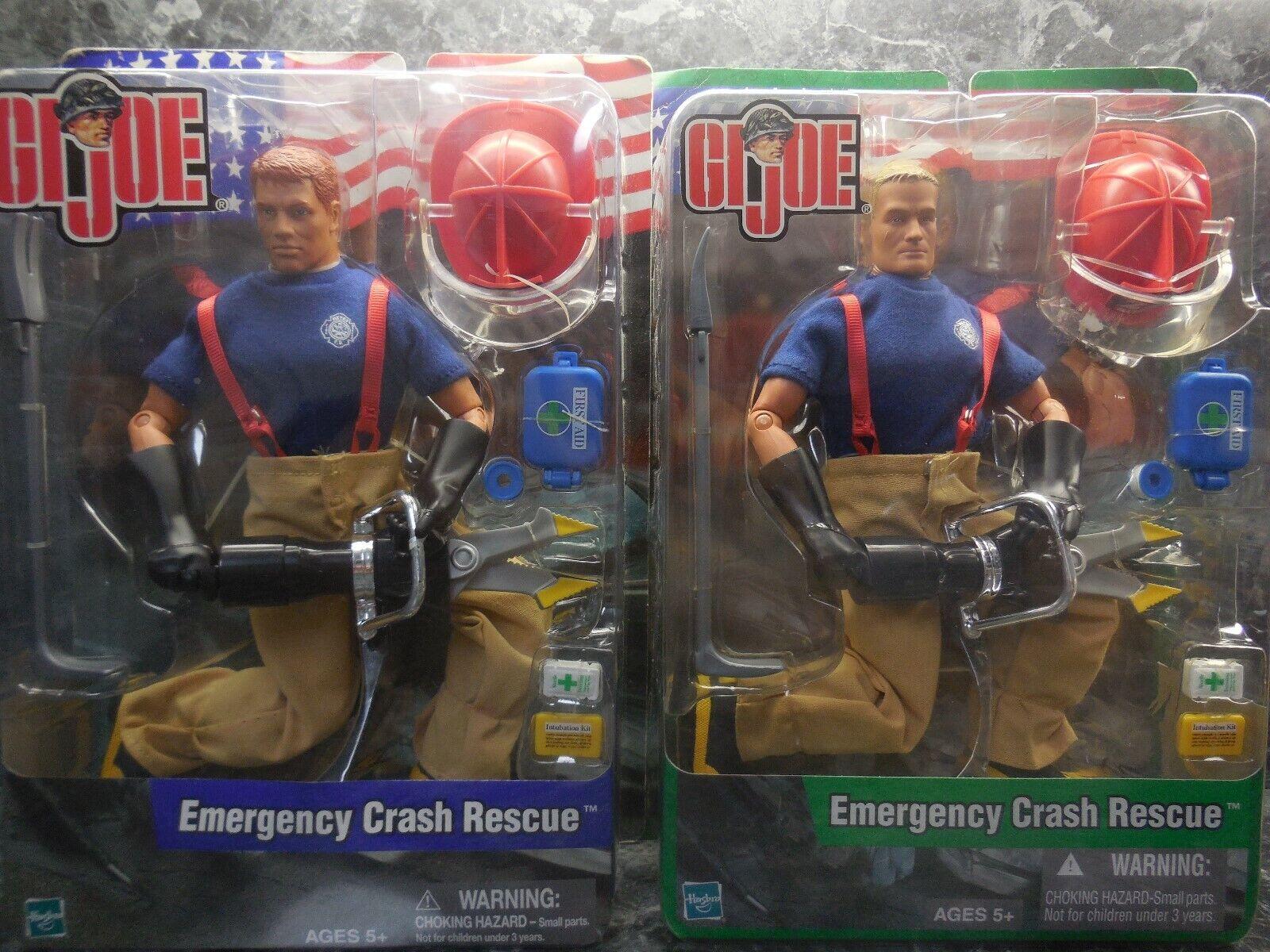 2 g.i. joe emergency crash rescue firefighters  new