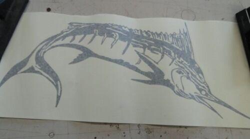 "BAYLINER 53151 FISH DECAL PORT BLACK 23/"" X 9-1//2/""  MARINE BOAT"