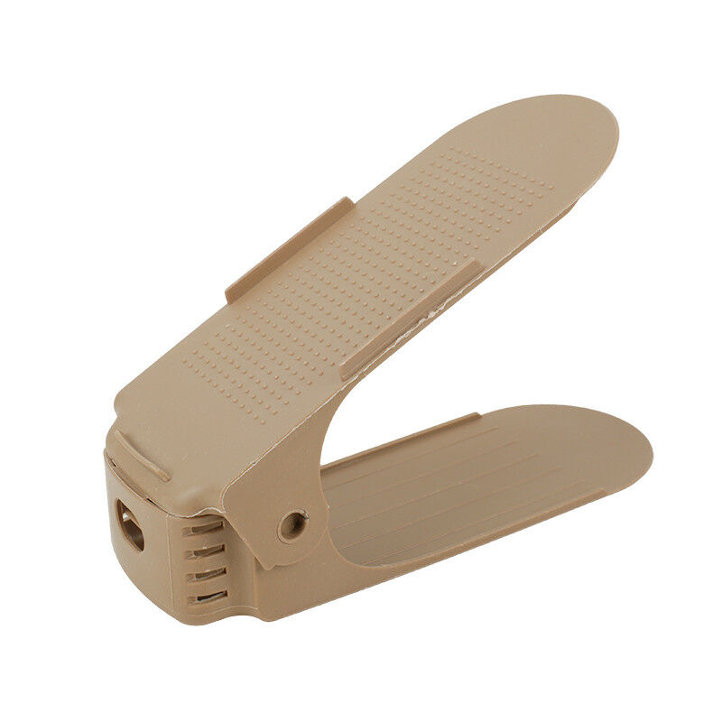 6xAdjustable Space-Saving Shoes Rack Holder Double Deck Slotz Organizer Storage