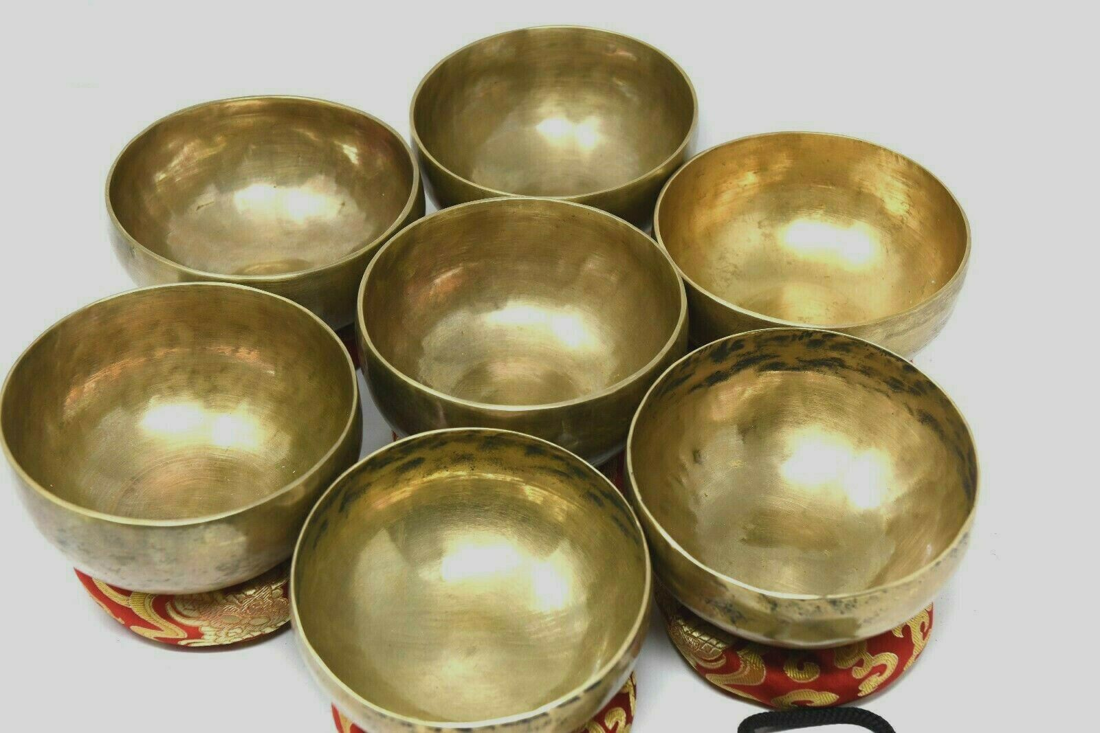Set sound bowl -Tibetan Singing BowlsSet of 7Meditation bowlChakra sets