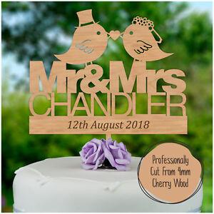 Mr-Mrs-Wedding-Keepsake-PERSONALISED-Wooden-Cake-Topper-Hardwood-Decoration