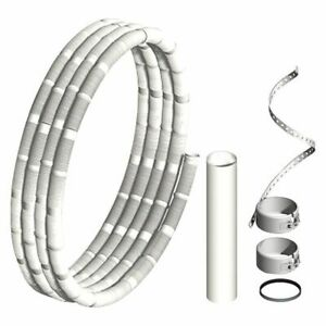 Kunststoff-Abgassystem Pipe Flexible, Basisset 12,5m Dn 60