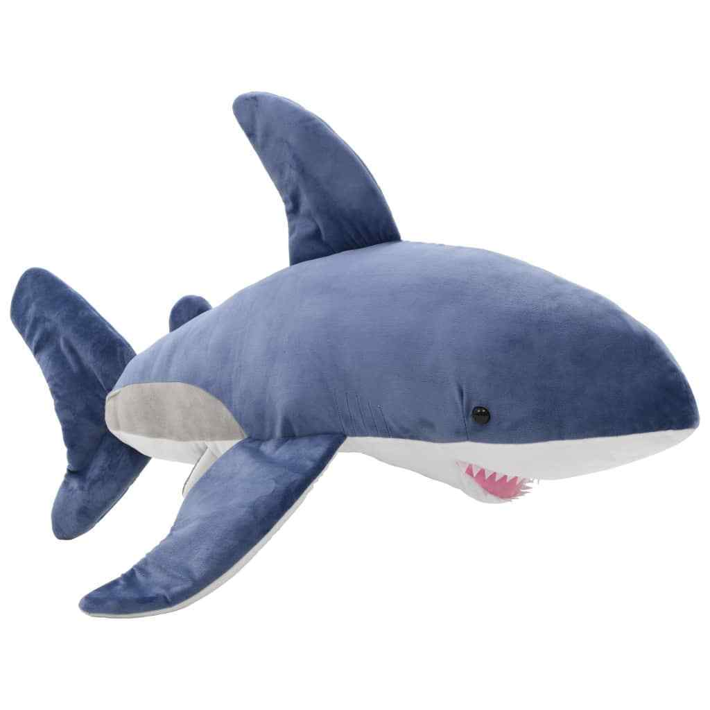 VidaXL Shark Cuddly Toy Plush bluee and White Kids Stuffed Animal Doll Gift