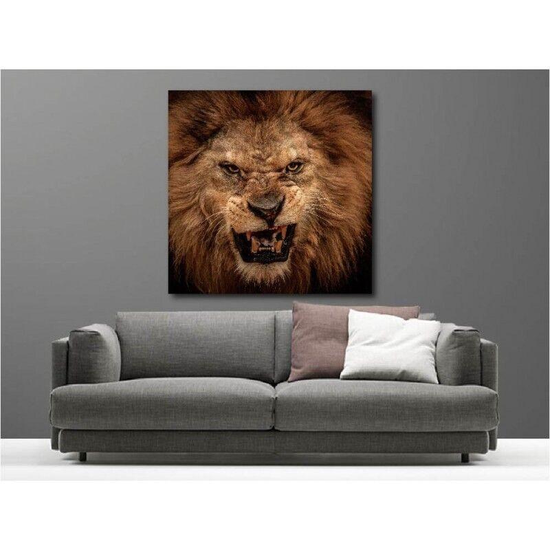 Canvas Fabric Deco Square Roar Lion 128702168