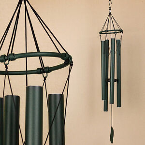 Large-Musical-Tuned-Harmonious-WindChime-Green-Metal-Wind-Chime-85cm