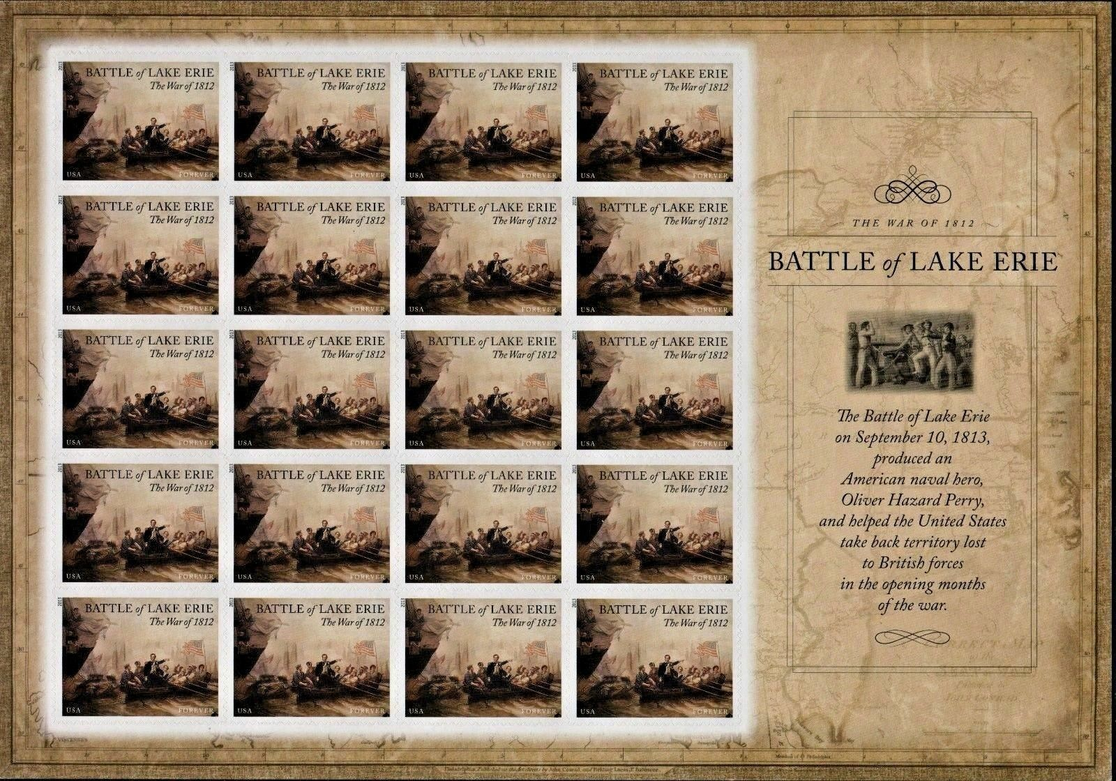 2013 46c Battle of Lake Erie, The War of 1812, Sheet of