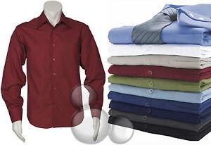Mens-Business-Shirt-Size-S-M-L-XL-2XL-3XL-4XL-5XL-Long-Sleeve-Plain