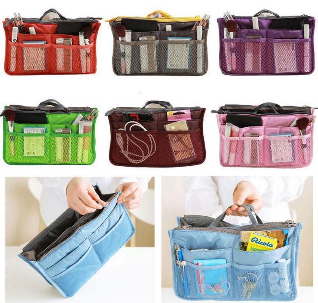 Cosmetic Makeup Bag Women's Organizer Bag Handbag Travel Bag Insert WIth Pockets