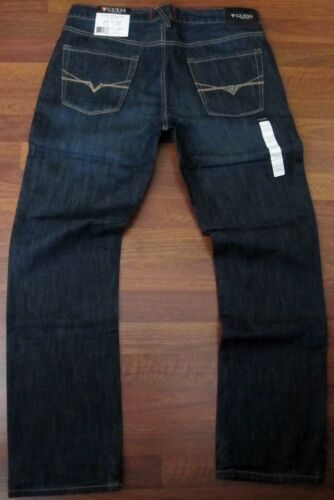 Guess Slim Straight Leg Jeans Men/'s Size 38 X 34 Classic Dark Distressed Wash