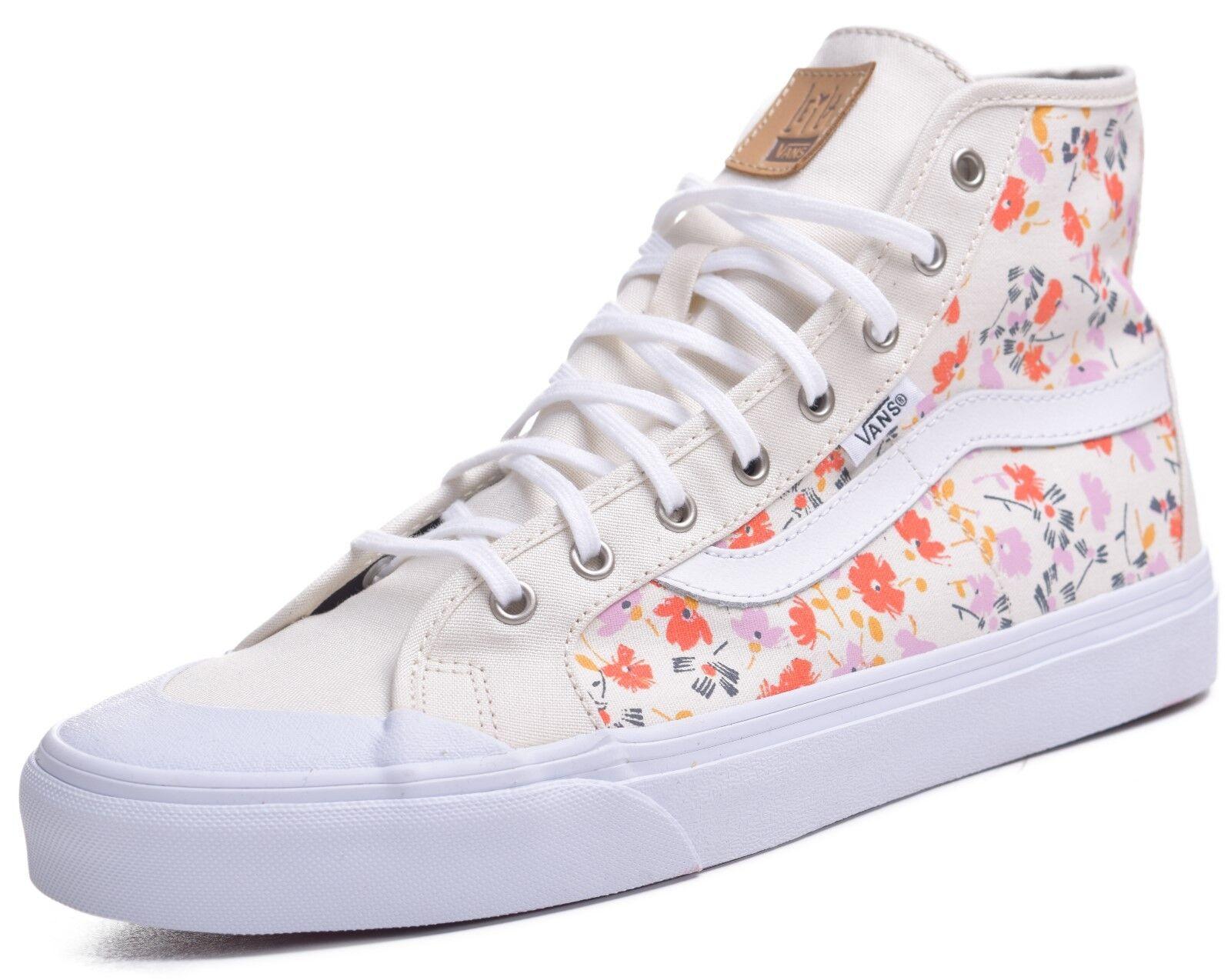 Vans Black Ball Hi Womens Leila Hurst 70's Floral Skateboard Shoes Size 10
