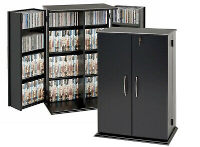 Outstanding Prepac Cd Dvd Storage Cabinet W Lock 376 Cd 192 Dvd New Ebay Home Interior And Landscaping Ferensignezvosmurscom