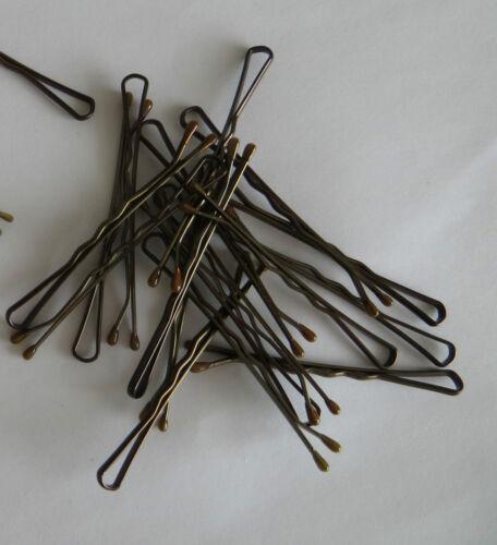 20 BOBBY KIRBY PINS societari Brown//Gold per capelli Grip clip morsetti Parrucchiere Ondulato diapositive