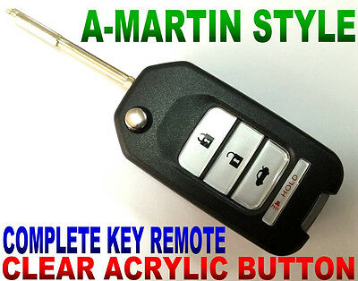 A-MARTIN STYLE FLIP KEY REMOTE FOR JAG S-TYPE KEYLESS ENTRY TRANSMITTER CHIP FOB