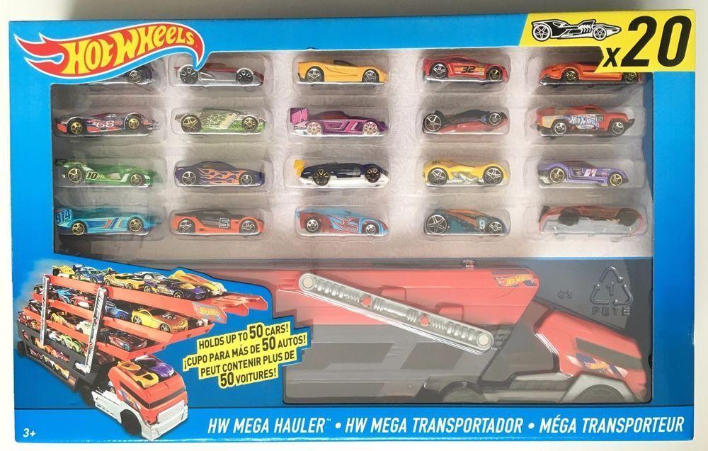 para mayoristas Hot Wheels Mega Camión With 20 20 20 Hot Wheels Coches Nuevo Sellado  barato y de alta calidad