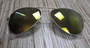 5d60d5bd365c EE-2 AQS Aquaswiss James reflective metal aviator Sunglasses GOLD | eBay