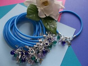 Image Is Loading 12 Thyroid Cancer Awareness Bracelets Teal Blue Pink