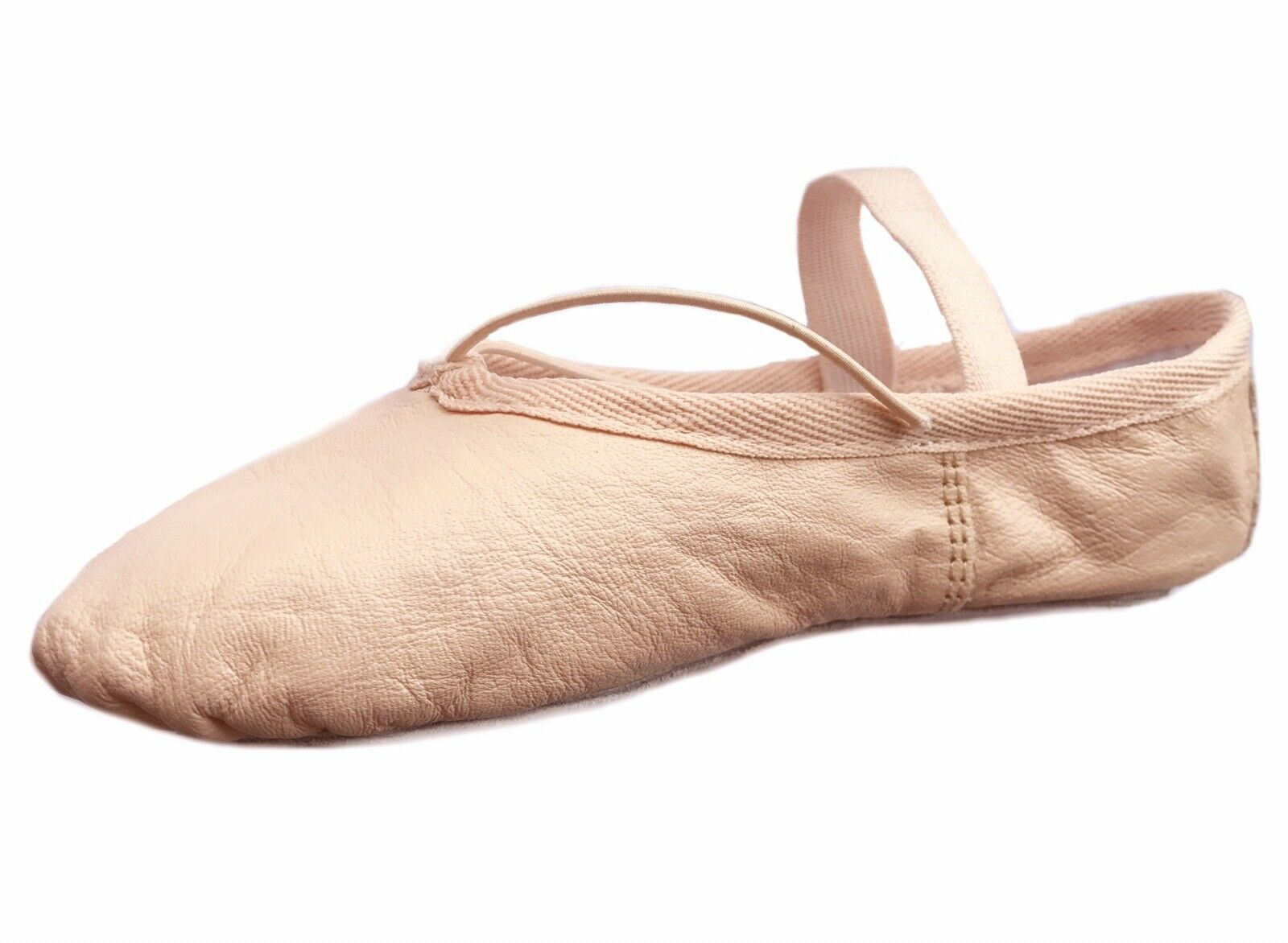 Ballet Shoes, Pink Leather Ballet Dance shoes Full Sole Children & Adults Sizes