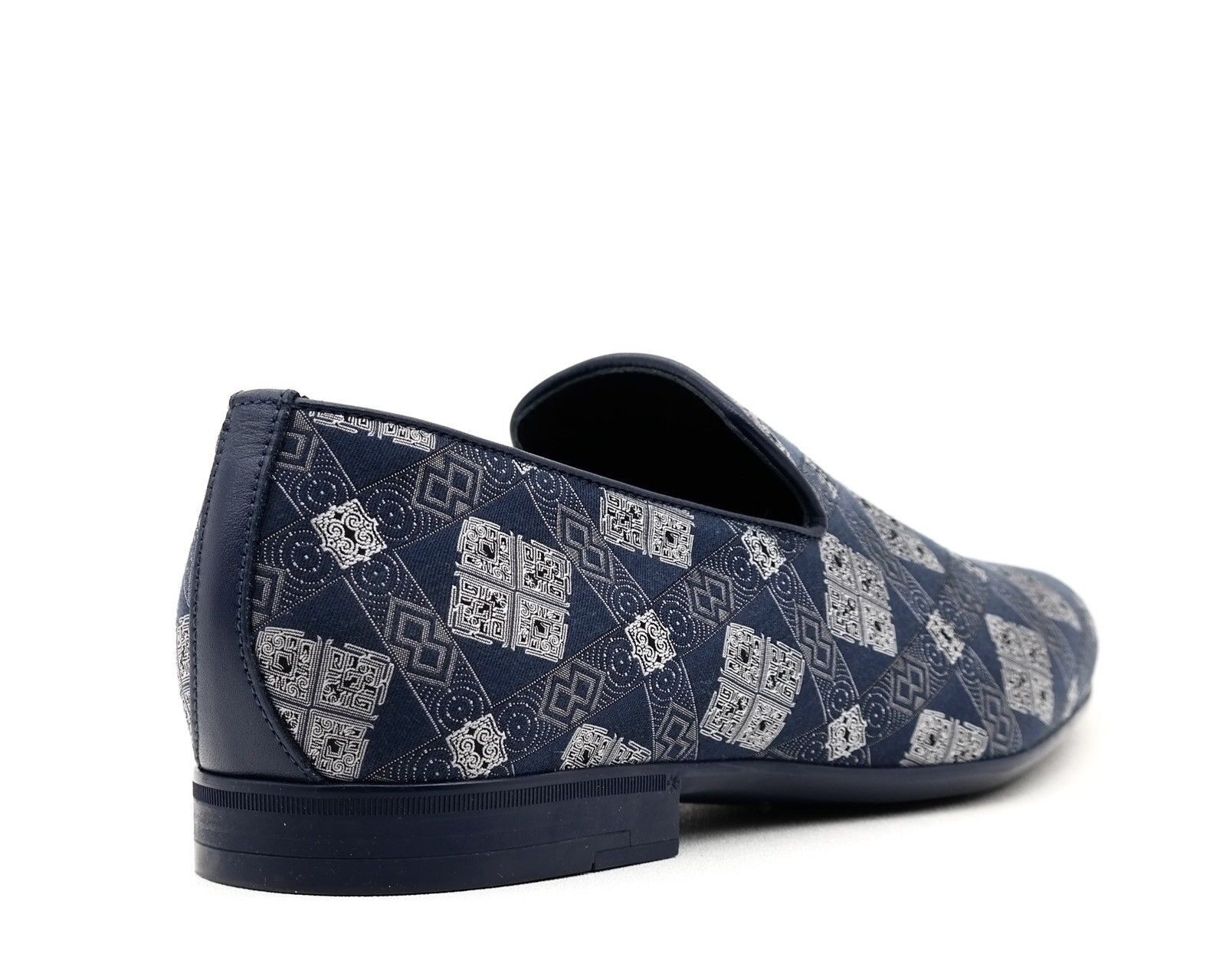 Jimmy Choo Loafers Sloane Blue Fabric Slip On Shoes Size Size Size 11.5 NIB f83664
