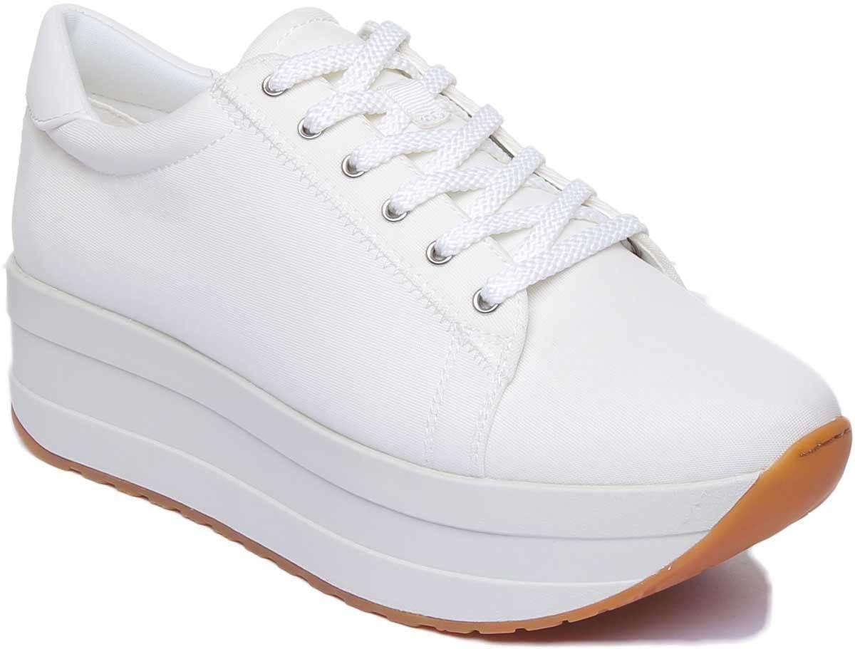 Vagabond Casey Womens Vagabond Platform Sneakers Canvas In White UK Size 3 - 8