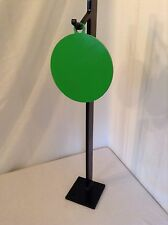 "NEW AR500 Fence Post Mounted  Hook W/ AR500 8"" Hanging Round GONG LOUD RING"