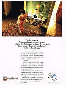 PUBLICITE-ADVERTISING-074-1991-SANTENS-serviettes-de-bain-linge-maison