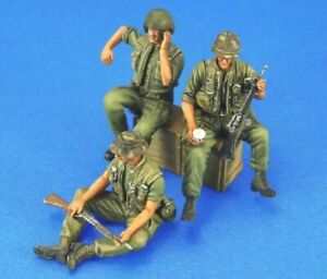 1//35 Resin Figure Model Kit US Soldiers Vietnam War Unpainted Unassambled