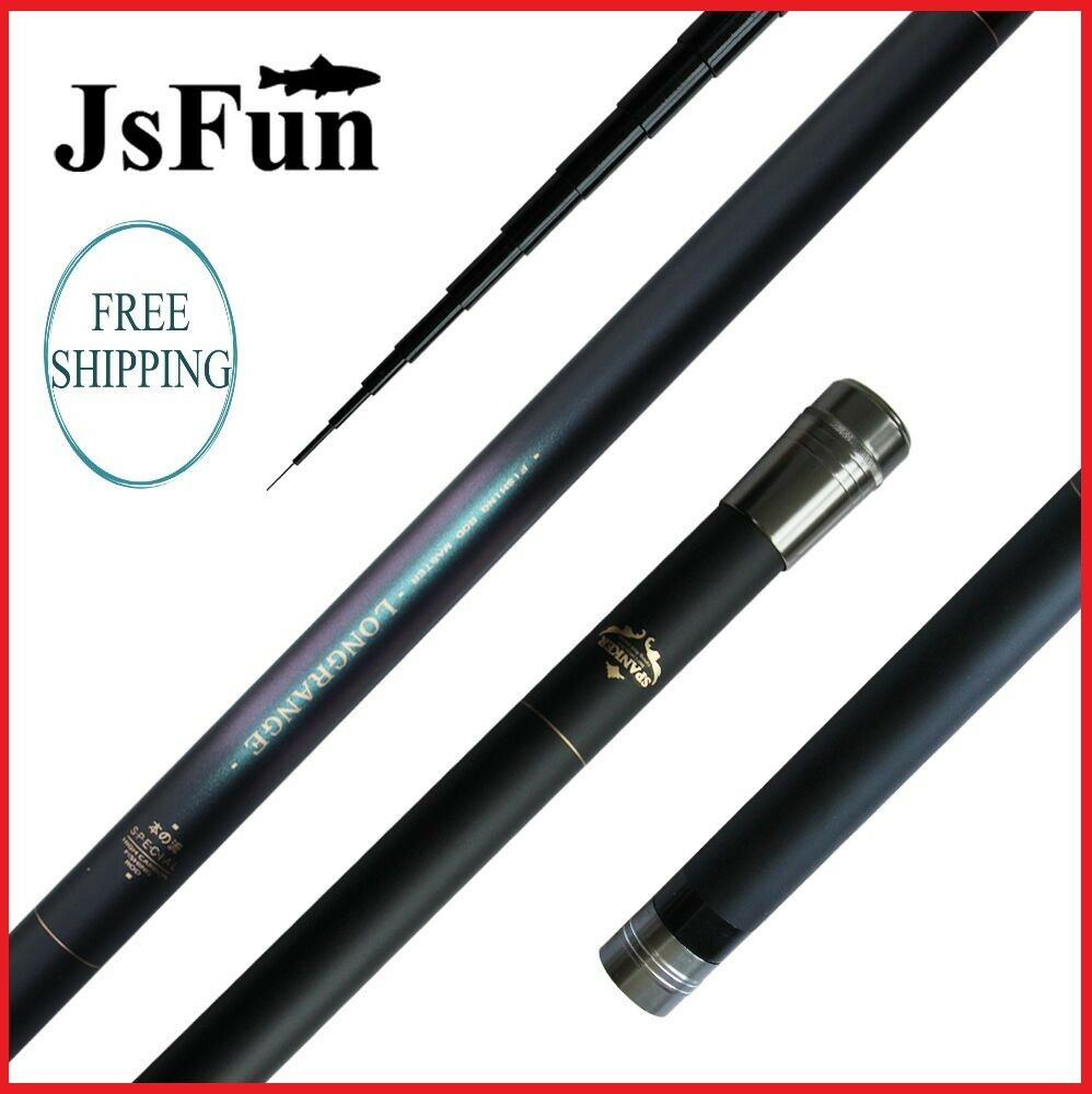 Fishing Rod Stream Pole Ultra Long Hard Hand Rod Telescopic Carbon Fiber Carp