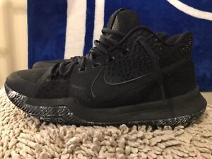 8dac6f54e405 Image is loading Nike-Kyrie-3-Triple-Black-Marble-852395-005-